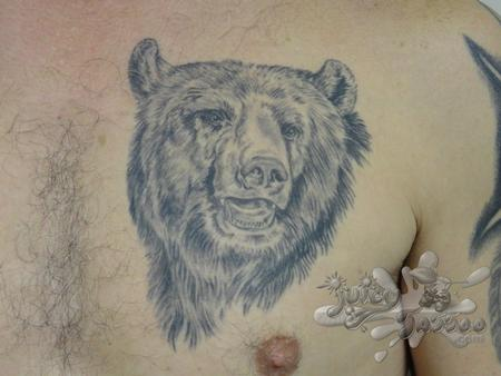 bear chest piece Tattoo Design Thumbnail