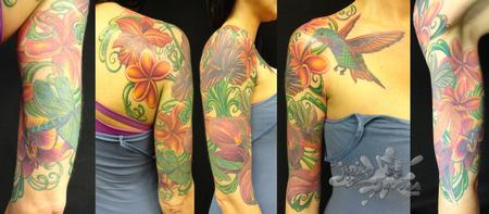 colorful half sleeve Tattoo Design Thumbnail
