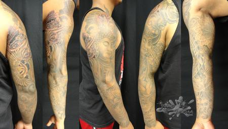 Tattoos - Buddha sleeve  - 112028