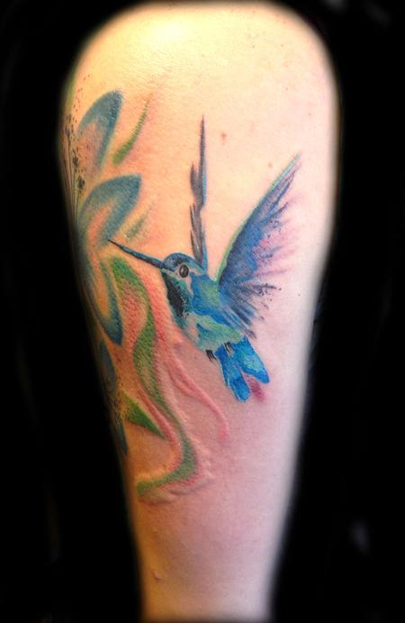 Tattoos - Watercolor Hummingbird - 100320