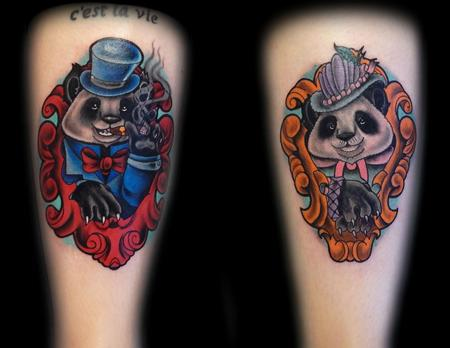 Tattoos - Lady and Gentlemen pandas done for a Saniderm Promo - 104754