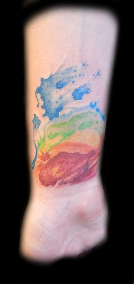 Tattoos - Custom Abstract Watercolor design - 93339
