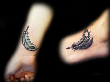 Tattoos - Yin Yang Feathers - 111815