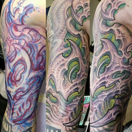 Tattoos - freehand biomech sturbridge  - 126733
