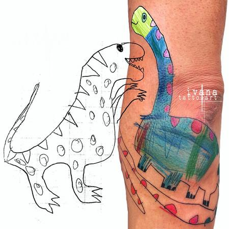 Dinosaur  Tattoo Design