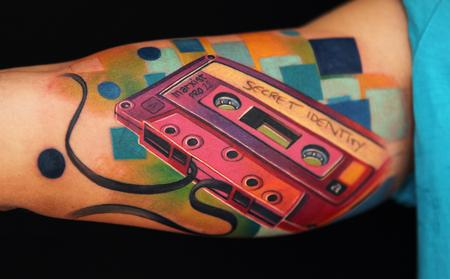 Audio Tape Tattoo Design Thumbnail