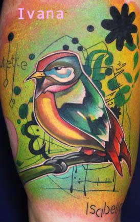 Little bird Tattoo Design Thumbnail