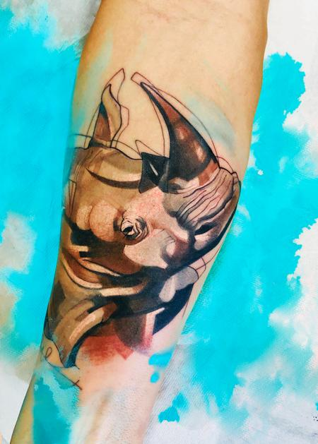Tattoos - Rhino Tattoo - 137633
