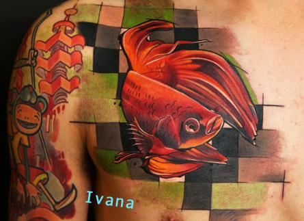 Ivana Tattoo Art - Siamese Fighting Fish