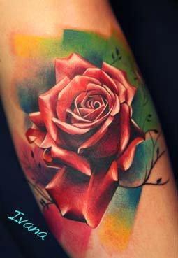 color rose tattoo Tattoo Design Thumbnail