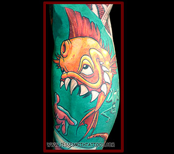 Tattoos - Gnarly Fish - 24803