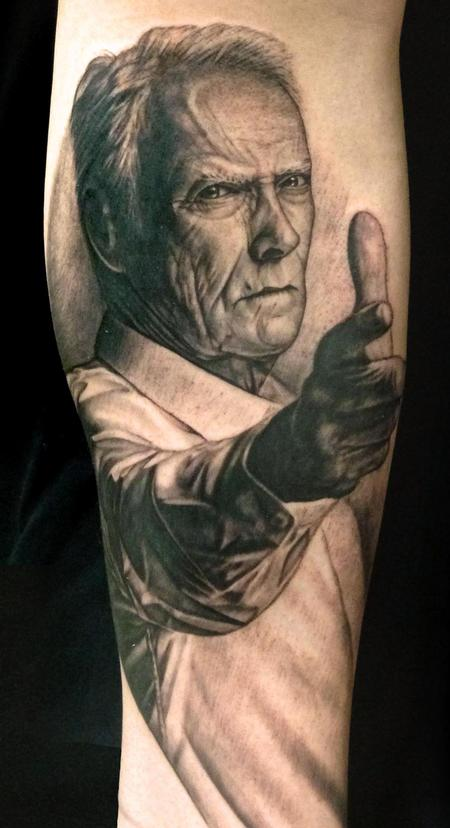 Clint Eastwood Tattoo Design Thumbnail
