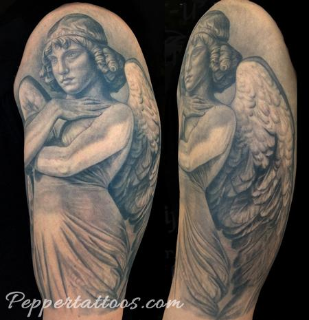 Tattoos - Monteverde Angel Sculpture - 101976