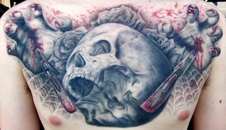 Tattoos - Skull n scalpels - 56780