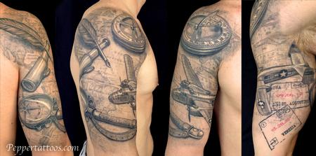 Tattoos - Travel Themed Tattoo - 109070