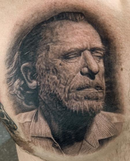 Charles Bukowski Tattoo Design Thumbnail