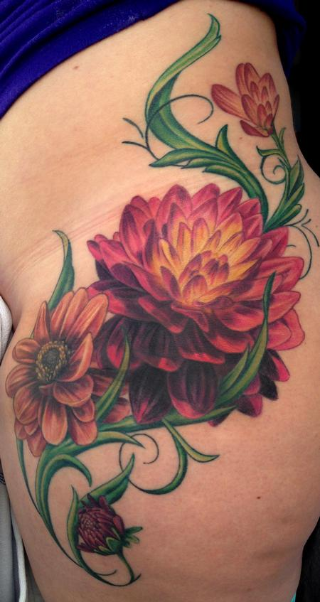 Tattoos - Dahlia Tattoo - 89069