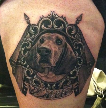 Tattoos - Basset Hound Portrait - 70156