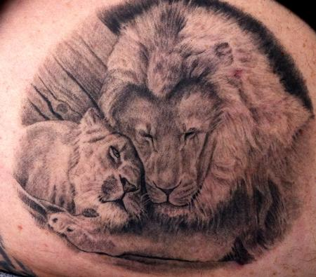 Tattoos - Two Lions - 66983