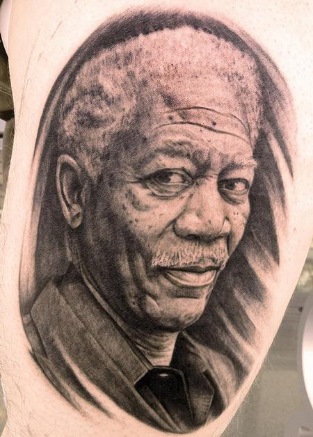 Morgan Freeman Tattoo Design Thumbnail