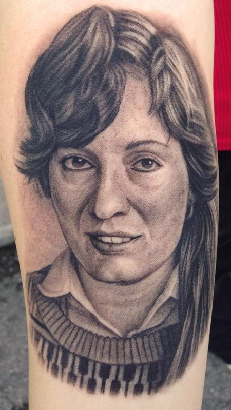 Tattoos - Portrait Tattoo of client's mom - 80640