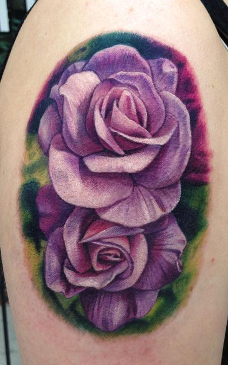 Tattoos - Purple Roses - 80636
