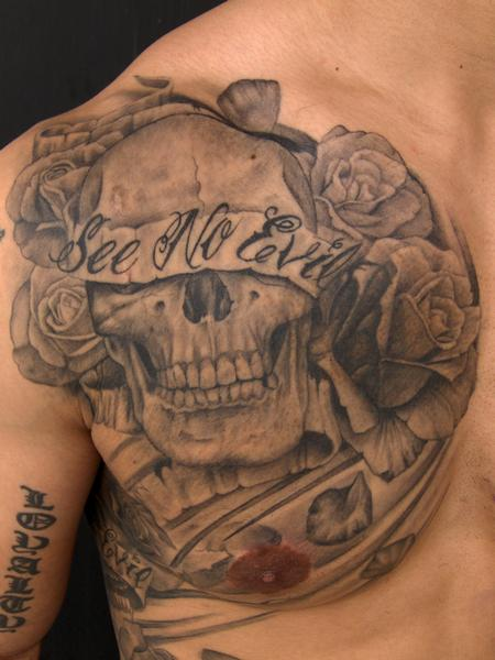 Tattoos - See No Evil Skull - 57182