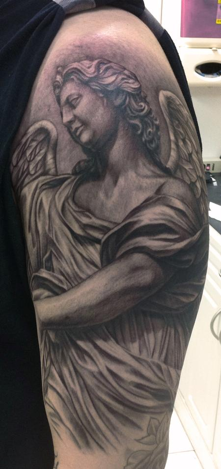 Tattoos - Angel Statue Tattoo - 70157