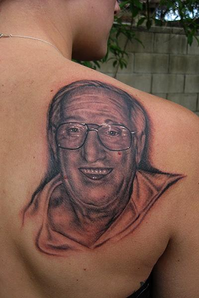 Daniel Chashoudian - grandpa memorial tattoo