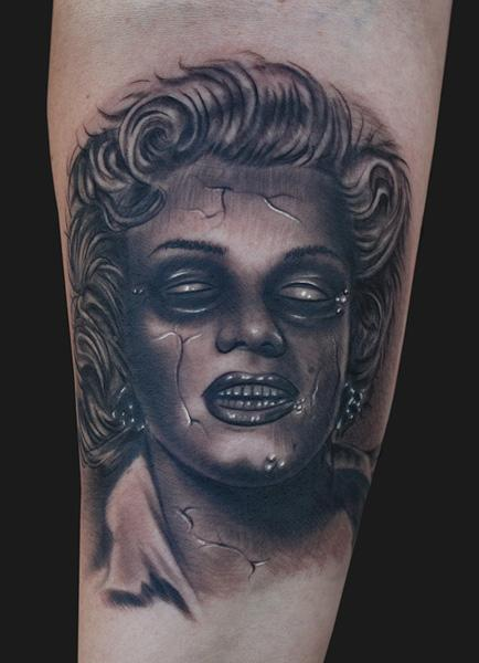 Tattoos - Marilyn Monroe zombie tattoo  - 77986