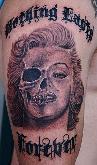 Tattoos - Marilyn Monroe tattoo - 71128
