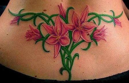 Tattoos - flowers and vines tattoo - 71132