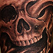 Tattoos - Bio-organic skull tattoo - 71093