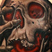 Tattoos - Skull tattoo with red glow - 84338
