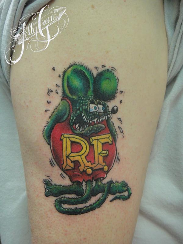 rat fink by green tattoos