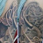 black and grey roses Tattoo Design Thumbnail