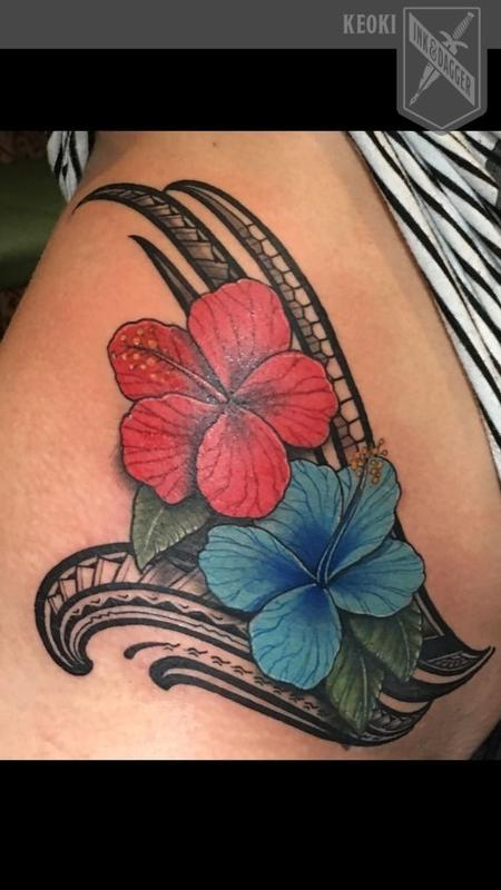 Tattoos - Polynesian floral tattoo - 132619