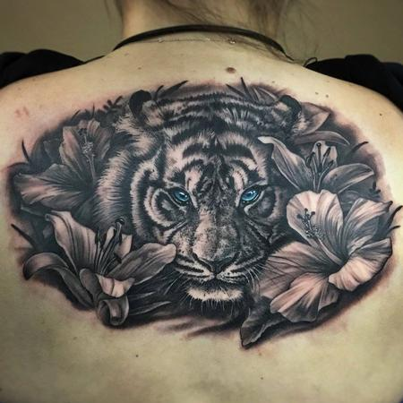 Tattoos - Tiger and Lillies  - 129289