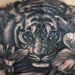 Tiger and Lillies  Tattoo Design Thumbnail