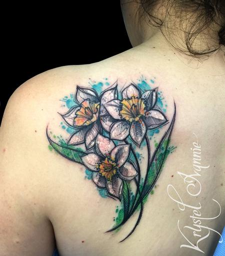 Tattoos - Narcissus flowers - 128448