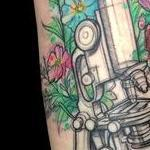Vintage Microscope Tattoo Design Thumbnail