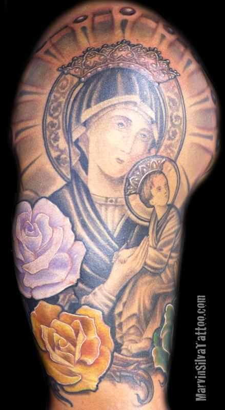 and baby jesus by marvin silva tattoonow