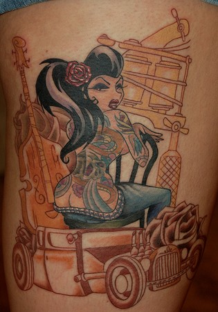 Marvin Silva Badass tattooed chick