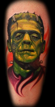 Marvin Silva - Frankenstein Portrait Tattoo