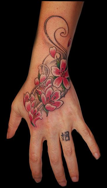 Josina 39 s blog tropical flower tattoo designs for Female hand tattoos
