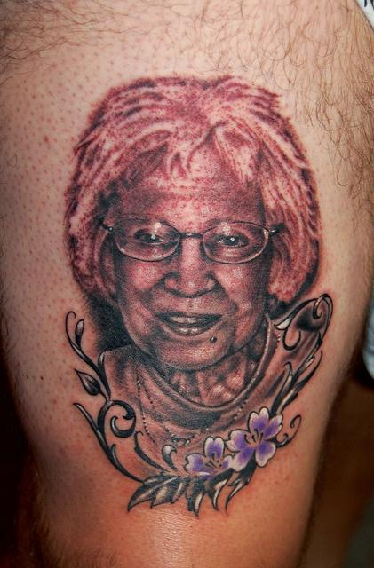 Grandma Portrait Tattoo