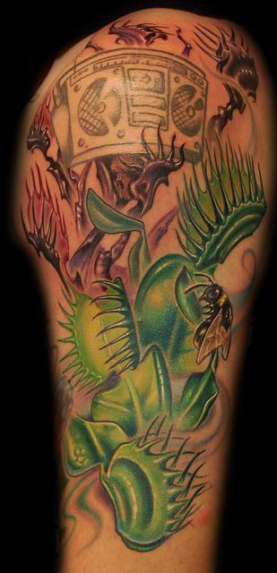 Marvin Silva - Venus Fly Trap Tattoo