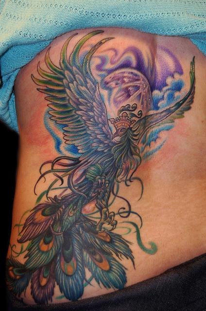 Tattoos - Phoenix Peacock Tattoo - 61918