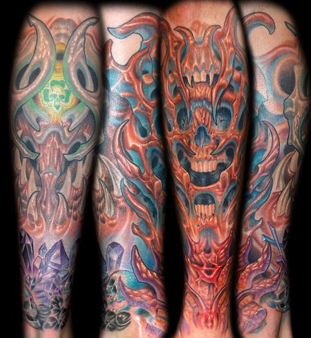 Marvin Silva - Bio Organic Skull and Crystal Tattoo