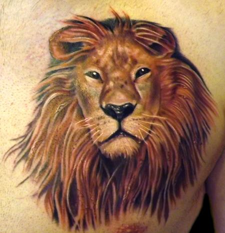 Tattoos - Lion Tattoo - 67198